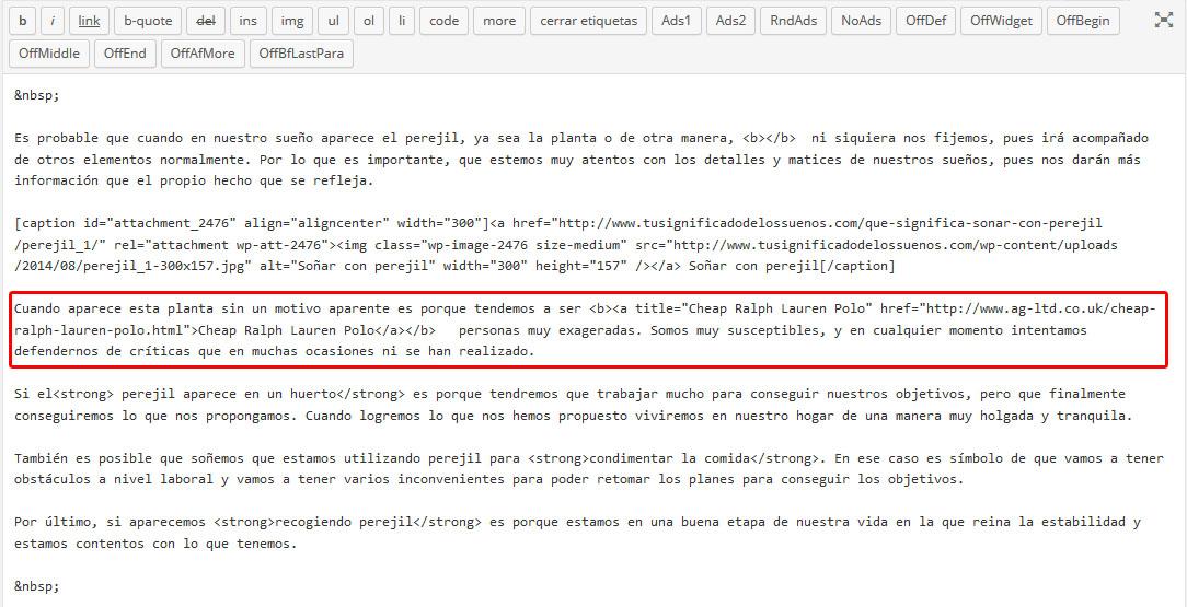 Limpiando malware en WordPress a través de consultas