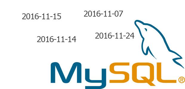 Seleccionar registros entre dos fechas con MySQL